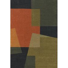 Bense Garza Orange/Brown Area Rug