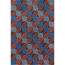 Bense Garza Blue/Red Area Rug