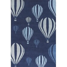 <strong>Chandra Rugs</strong> Kids Balloon White/Blue Kids Rug