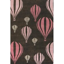 <strong>Chandra Rugs</strong> Kids Balloon Pink/Brown Kids Rug