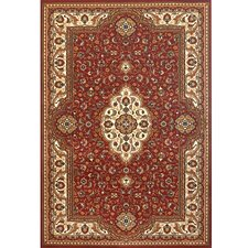 Silver Red/Brown Area Rug