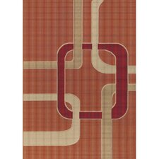 Torino Orange Indoor/Outdoor Area Rug