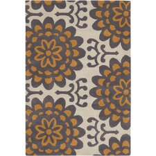 <strong>Chandra Rugs</strong> Amy Butler Orange Wallflower Rug