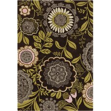 Amy Butler Lacework Brown/Green Area Rug