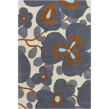 Amy Butler Morning Glory Blue Area Rug