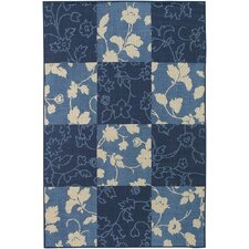 <strong>Chandra Rugs</strong> Plaza Blue Floral Rug