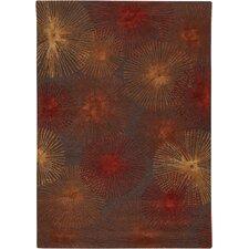 Revello Brown/Red Area Rug