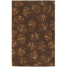 Rowe Brown Leaf Area Rug
