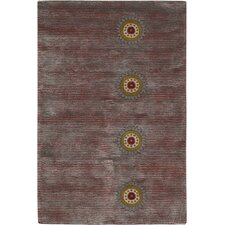 Rowe Purple Stripe Area Rug