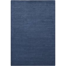 Astrid Blue Solid Area Rug