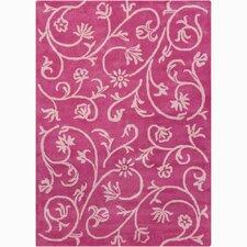 Bajrang Swirl Floral Rug