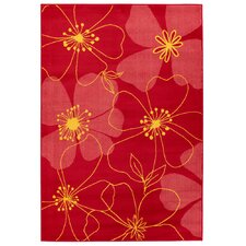 <strong>Chandra Rugs</strong> Dersh Red Flower Rug