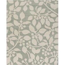 Hanu Leaves Gray/Ivory Area Rug