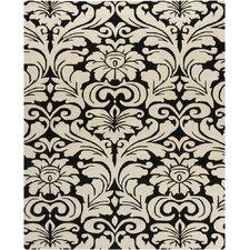 Hanu Black/Beige Floral  Area Rug