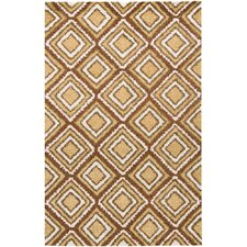 INT Gold Square Design Rug
