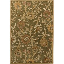 <strong>Chandra Rugs</strong> INT Green Floral Rug