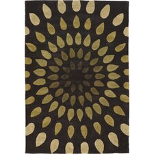 Oleander Brown Area Rug