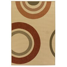 Ryan Circles Indoor/Outdoor Area Rug