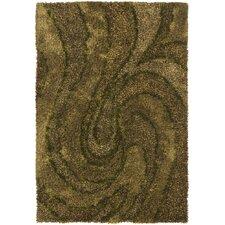 Areva Shag Green Area Rug