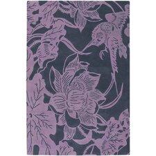 Counterfeit Contemporary Designer Violet Area Rug