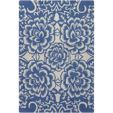 Contemporary Designer Blue Rug