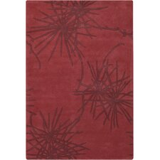 <strong>Chandra Rugs</strong> Contemporary Designer Crimson Rug