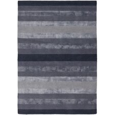 Gardenia Dark Grey Stripes Area Rug