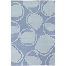 <strong>Chandra Rugs</strong> Inhabit Designer Light Blue Rug