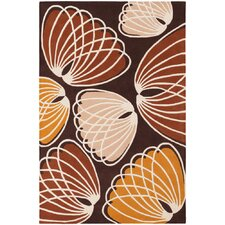 <strong>Chandra Rugs</strong> Inhabit Designer Brown/Orange Rug