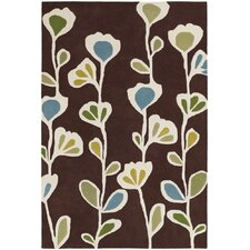 Inhabit Designer Brown Rug