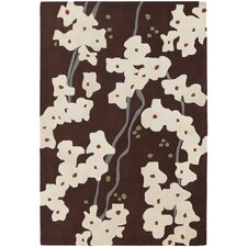 <strong>Chandra Rugs</strong> Inhabit Designer Dark Brown Rug