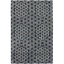 <strong>Chandra Rugs</strong> Parson Gray Designer Black/White Rug