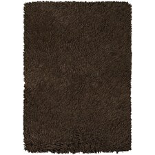 Poligan Shag Dark Brown Area Rug