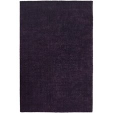 Sara Shag Dark Purple Area Rug