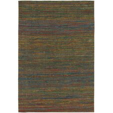 Shenaz Dhurrie Brown Area Rug