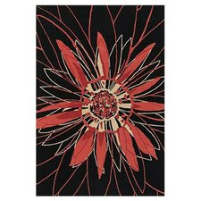 Dharma Black/Red Area Rug