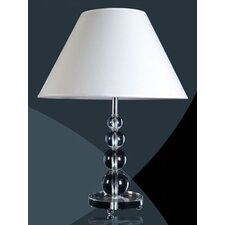 Crystal Brook Table Lamps with Neutral Shade and Decorative Base