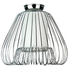Dusky DIY Lamp Shade in Chrome / White