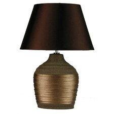 Liano Ovoid Complete Table Lamp in Copper / Brown