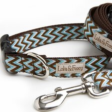 <strong>Lola and Foxy</strong> Blue Chevron Dog Collar