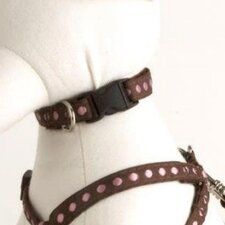 Cinnamon Brown and Pink Dog Collar