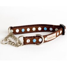 <strong>Lola and Foxy</strong> Blueberry Truffle Blue/Brown Martingale Dog Collar
