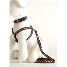 Cinnamon Brown and Pink Dog Harness