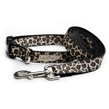 Leopard Black Dog Lead