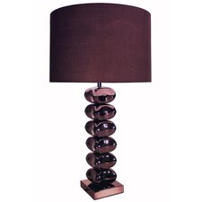 Table Lamp with Chocolate Round Shade