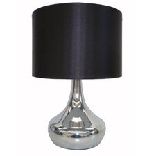 Table Lamp with Black Drum Shade