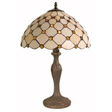 Table Lamp with Rain Drop Tiffany Shade
