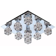 Cute Ceiling Lamp with Chrome and Clear Glass