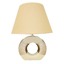Ceramic Table Lamp with Cream Fabric Shade