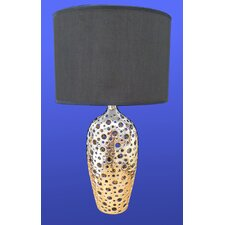 Ceramic Table Lamp with Black Fabric Shade